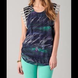 4 Timo Weiland Baseball Tank in Lily Pad Print